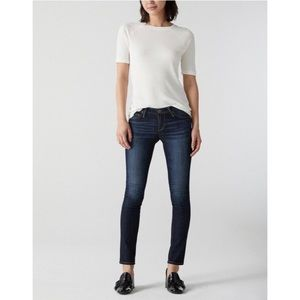 AG The Stilt Cigarette Leg Free Dark Wash Jeans